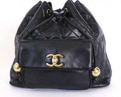 5fae36df06d4 CERTIFIED AUTHENTIC RARE Vintage CHANEL lambskin Matelasse Backpack ...