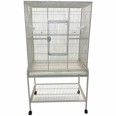 A&E CAGE CO Flight Bird Cage and Stand 32 inches x 21 inches Black
