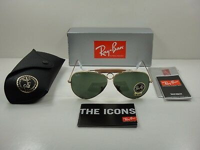 a197a1f44a Ray-Ban Shooter Havana Sunglasses Rb3138 001 Gold Frame green Classic Lens  62Mm