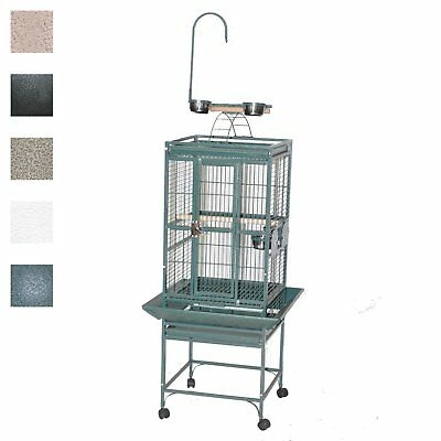 "A&E Cage 8001818 Black Play Top Bird Cage with 5/8"" Bar Spacing, 18"" x 18"""