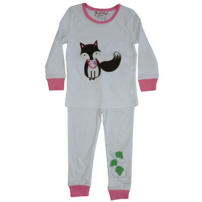 Girls cotton pyjamas - Fox - Powell Craft -  Ages 1-7 - 100% Cotton  - BNWT