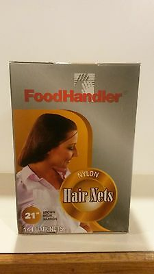 "FoodHandler 305-FH20 SMALL  21"" Brown Hair nets - 144 PER BOX"