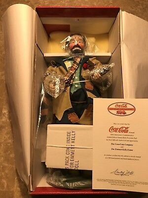 "1999 Coca Cola Porcelain Doll Emmet Kelly ""To Market"""