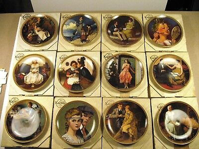 Norman Rockwell Rediscovered Women Series Complete Collection (12) Plates