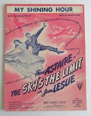 1943 MY SHINING HOUR Sheet Music - FRED ASTAIRE in SKY'S THE LIMIT , JOAN LESLIE