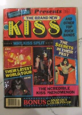 Vintage 1980 Magazine - Teen Talk Presents the Brand New KISS with poster