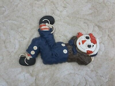 Vintage Raggedy Ann and Andy Wall Plaques Hanging The Bobbs Merrill Co. C 1977