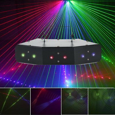 Sound Active LED RGB Stage Lights Lighting Laser Beam DMX Xmas Disco Party Club