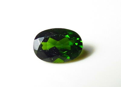 7x5mm RUSSIAN CHROME DIOPSIDE OVAL CUT FACETED LOOSE GEM cut from natural rough