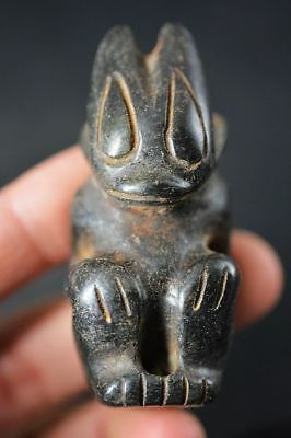 Chinese Hongshan Culture Magnet Jade Stone Carved *Sun god* Amulet Pendant C82