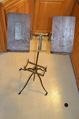 Antique Victorian Library Cast Iron & Wood Dictionary Bible Book Stand Flanagan