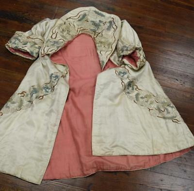 CHINESE SILK EMBROIDERED ROBE Lot 247