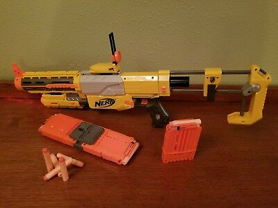 NERF Recon CS-6 Dart Blaster Gun w/ Shoulder Stock Clips, Darts & Laser Light