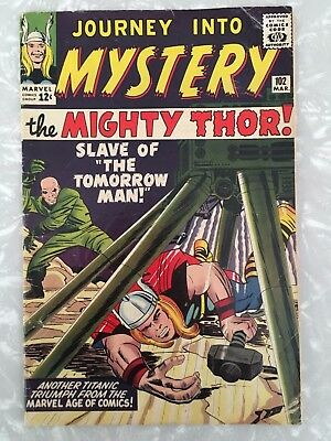 THOR JOURNEY INTO MYSTERY #102 FN- 1ST HELA SIF THOR RAGNAROK LEE and KIRBY 1963