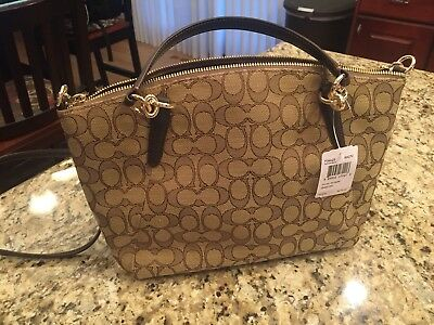 104c06ca5a37 NEW COACH F58283 F36625 Small Kelsey Satchel In Signature Jacquard ...