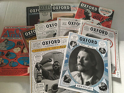 Lot of 11 Oxford American Magazine Southern Music Issues (no CDs included)