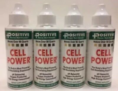4 Positive Power Nutritionals Cell Power Drops Food- 2 fl.oz Exp. 12/2021 SEALED