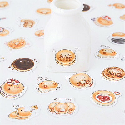 45pcs/lot Cute Round Delicious Bread Scrapbooking Sticker DIY School Stationery