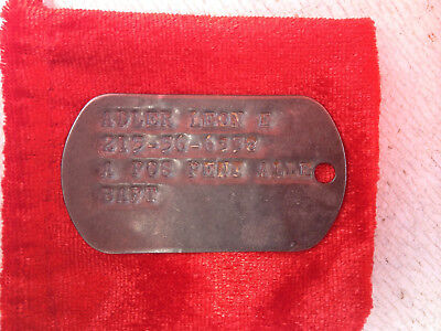 Vietnam War US Army ID Tag collectable/militaria