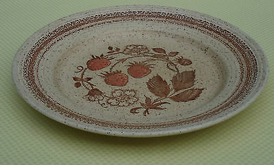 Vintage Churchill England Stonecast Homespun Luncheon Plate *Wild Strawberry