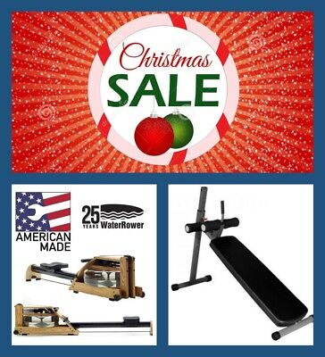 WATERROWER A1 GX  Water Rower - CHRISTMAS BONUS - FREE AB BENCH (Valued at $299)