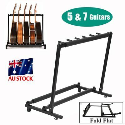 5/7 Guitar Stand Multiple Instrument Display Rack Folding Padded Organizer ON