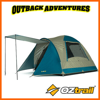 Oztrail Tasman 4V Dome Tent Family Camping Couple Hiking Camp 4 Person Tent