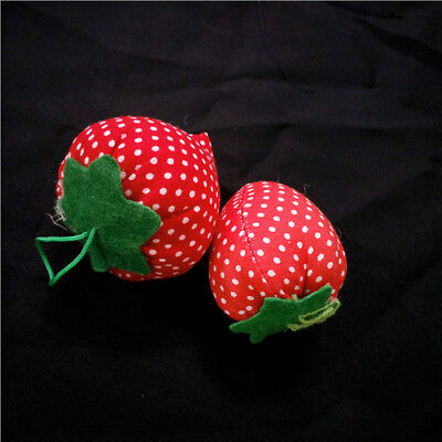 5x Set Strawberry Cross Stitch Needle Sewing Pin Cushion Button Safety Craft DIY