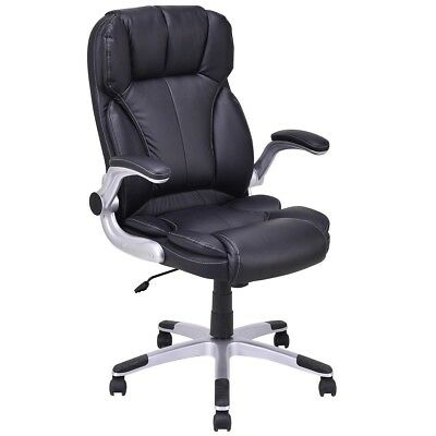 Executive PU Leather High Back Swivel Computer Desk Home Office Gaming Chair US