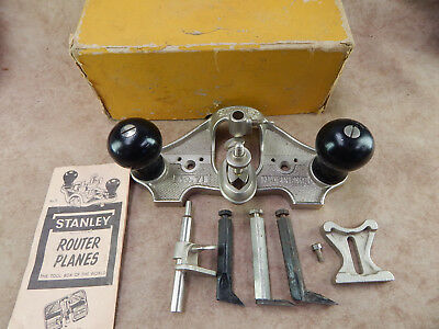 Complete Vintage Stanley No.71 Hand Router original box and accessories