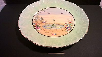 """Vintage 1930s hand-painted Royal Paragon 9"""" porcelain china plate garden England"""