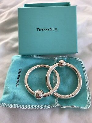 Tiffany & Co Silver Double Teething Rings and Rattle