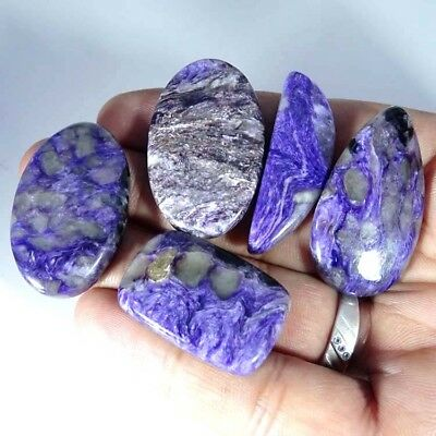 181.00Cts 100% NATURAL SUPER RUSSIAN CHAROITE Mix LOT CABOCHON GEMSTONE