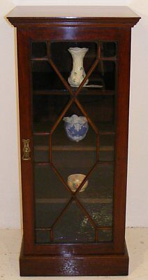 Good Quality Antique Mahogany Narrow Bookcase Or Display Cabinet