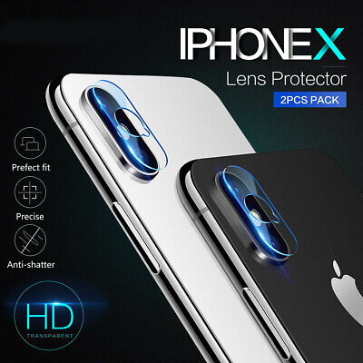 2X iPhone X 8/7 7/8 Plus Back Camera Lens 9H Tempered Glass Protector
