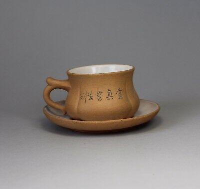 Early 20th Century Chinese Yixing Cup and Saucer