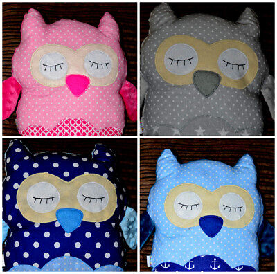 light soft cuddly pillow minky Owl 35cm for your child