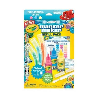 Crayola Marker Maker Refill Pack - Tropi-cool Pastel Colors (Damaged Stock)