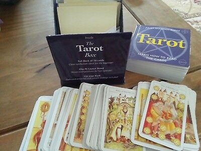 The Tarot Box - Juliet Sharman-Burke - Full Deck Of 78 Cards Book And Layout