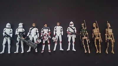 Hasbro STAR WARS Jek, Thire, Rys, Clone Troopers, Battle Droids