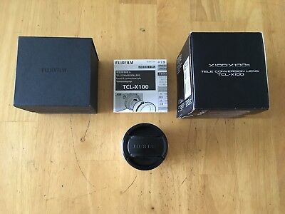 Fuji TCL-X100 telephoto conversion lens adapter silver in excellent condition