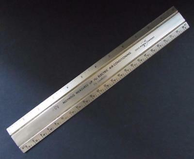 "Vintage OHIO POWER CO. ""Nothing Measures Up..."" Gold Tone Metal Ruler"