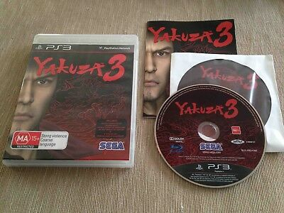 Yakuza 3 (Sony PlayStation 3, 2010) AUS PAL Complete with Soundtrack CD