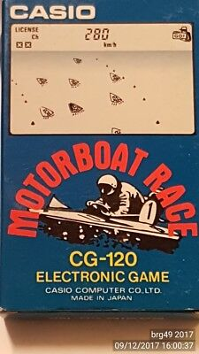 Casio Electronic - Game Motorboat Race - CG120 handheld '80 made in japan