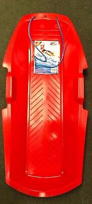 2 X Speed Sledge, Plastic Snow, Sleigh, With Rope, Kids, Pair