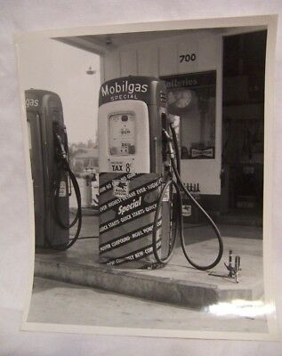 1950's Mobilgas Gas Pump & Service Station Promotional Photo