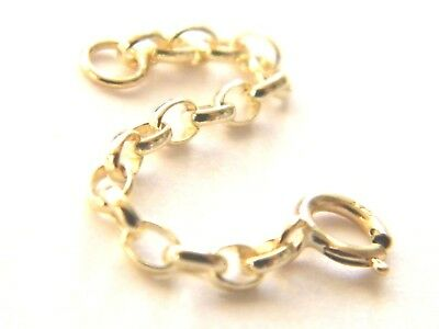 "New 2"" 9ct Yellow Gold Belcher Safety Chain with 1 Bolt Ring  Chain Extender.375"