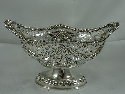 PRETTY VICTORIAN solid silver SWEET BOWL, 1908, 207gm