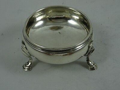 GEORGE III solid silver `COULDRON` style SALT, 1762, 38gm