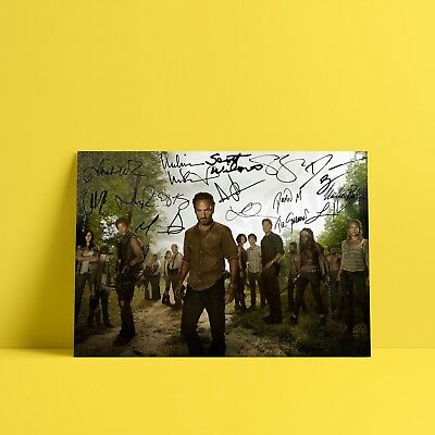 The Walking Dead Signed Cast Daryl Lori Carl - A3 A4 - FREE Shipping - TUN
